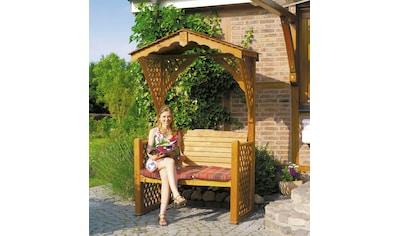 PROMADINO Gartenbank »Starnberg«, BxTxH: 142x80x220 cm, inkl. Auflage kaufen