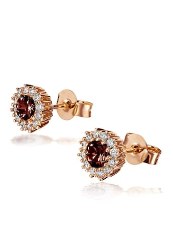 goldmaid Paar Ohrstecker 585/- Rotgold 2 Rhodolite 24 Brill. kaufen