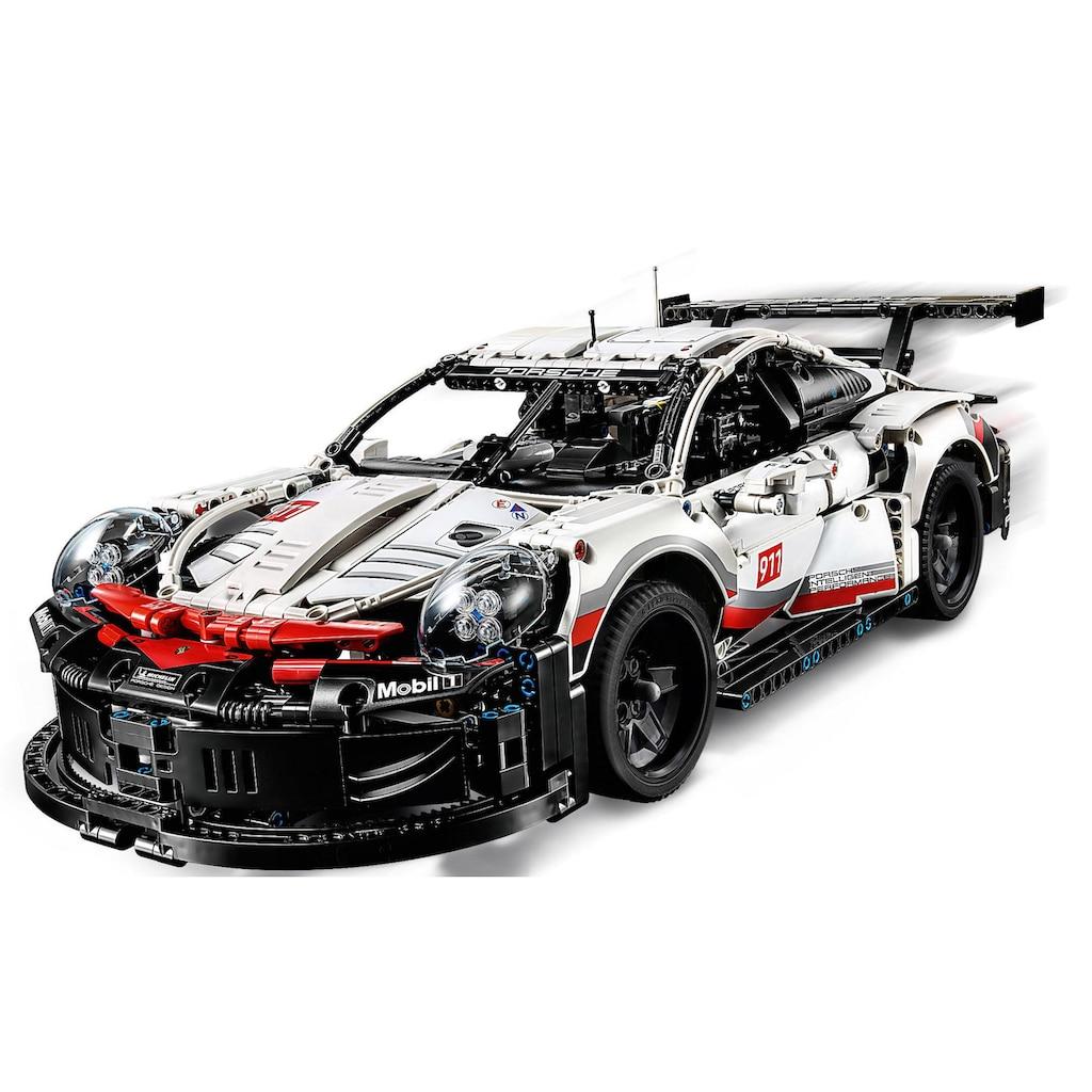 LEGO® Konstruktionsspielsteine »Porsche 911 RSR (42096), LEGO® Technic«, (1580 St.), Made in Europe