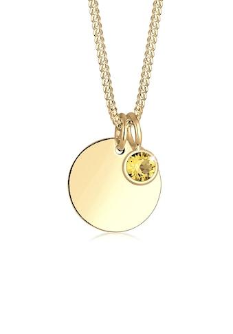 Elli Collierkettchen »Vergoldet mit Kristall Monatstein« kaufen
