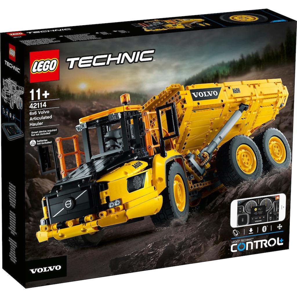 LEGO® Konstruktionsspielsteine »Knickgelenkter Volvo-Dumper 6x6 (42114), LEGO® Technic«, (2193 St.)