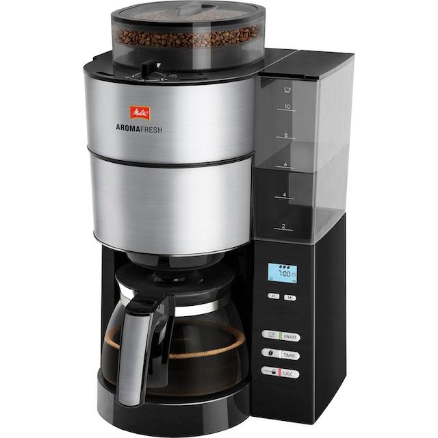 Melitta Kaffeemaschine mit Mahlwerk »AromaFresh 1021-01«, Papierfilter, 1x4