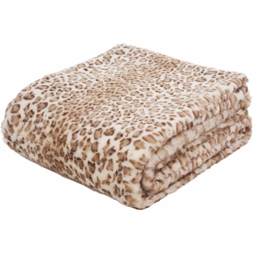 Gözze Wohndecke »Leopard«, mit Leopardenmuster