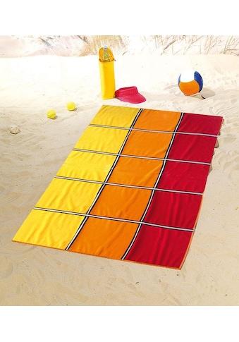 Gözze Strandtuch »Karo«, (1 St.), mit fröhlichen Farben kaufen