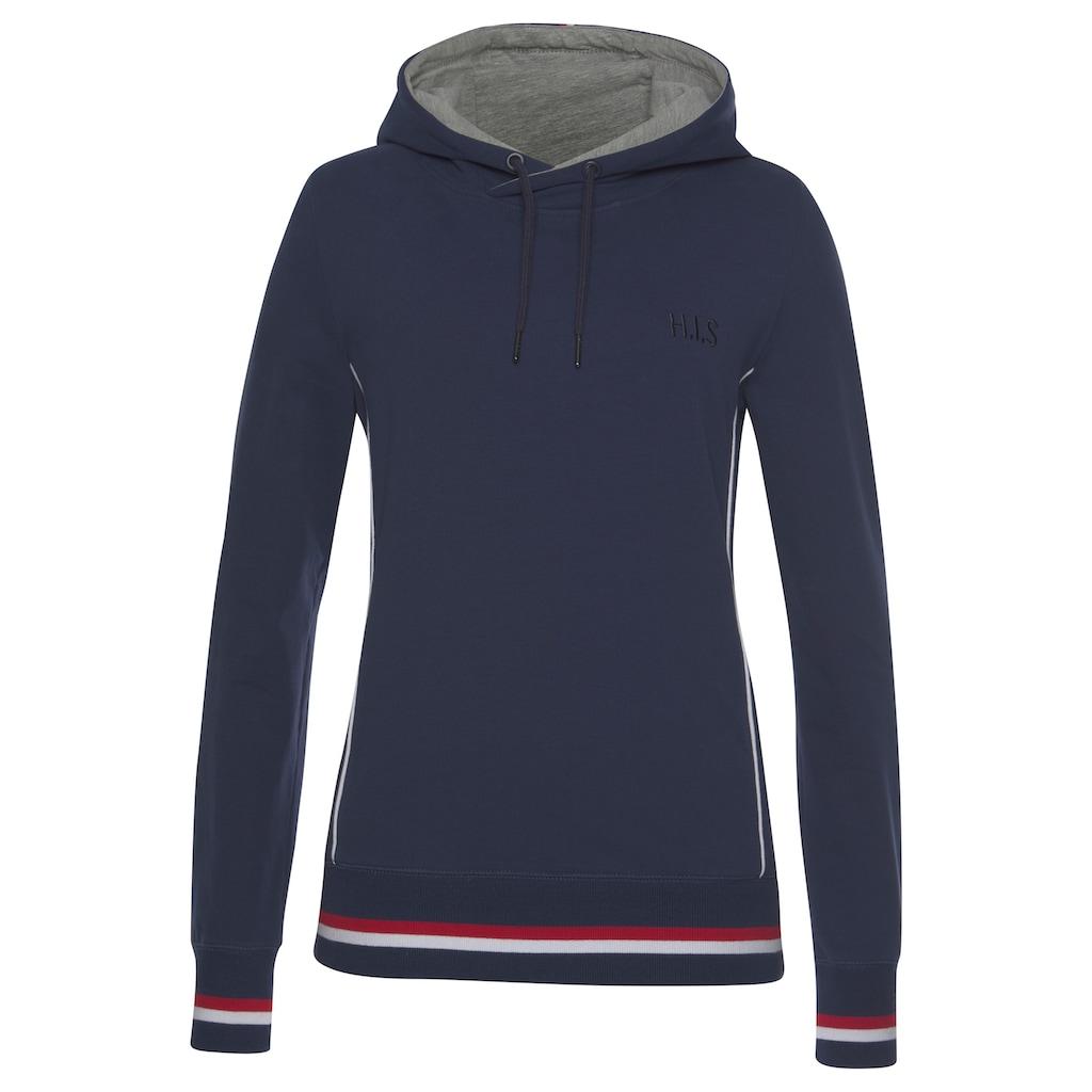 H.I.S Kapuzensweatshirt »Athleisure Hoody«, mit weißem Piping