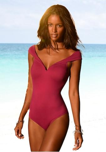 LASCANA Badeanzug, in Off-Shoulder-Form kaufen
