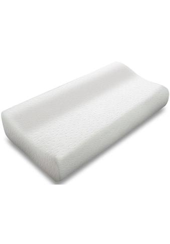 MPS TEXTILES Nackenstützkissen »SENSOSOFT Kontur«, Füllung: viskoelastischer Schaum, Bezug: Doppel-Jaquard, (1 St.), mit optimaler Körperanpassung kaufen