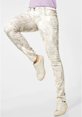 STREET ONE Slim-fit-Jeans, mit allover Print kaufen