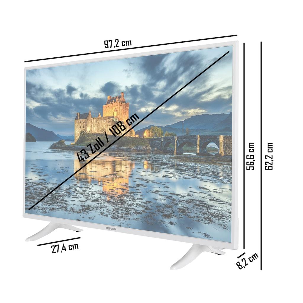 "Telefunken LED-Fernseher »XF43J511-W«, 108 cm/43 "", Full HD, Smart-TV"