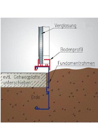 KGT Fundamentrahmen , BxL: 233x429 cm, , für Gewächshaus »RoseIV« kaufen