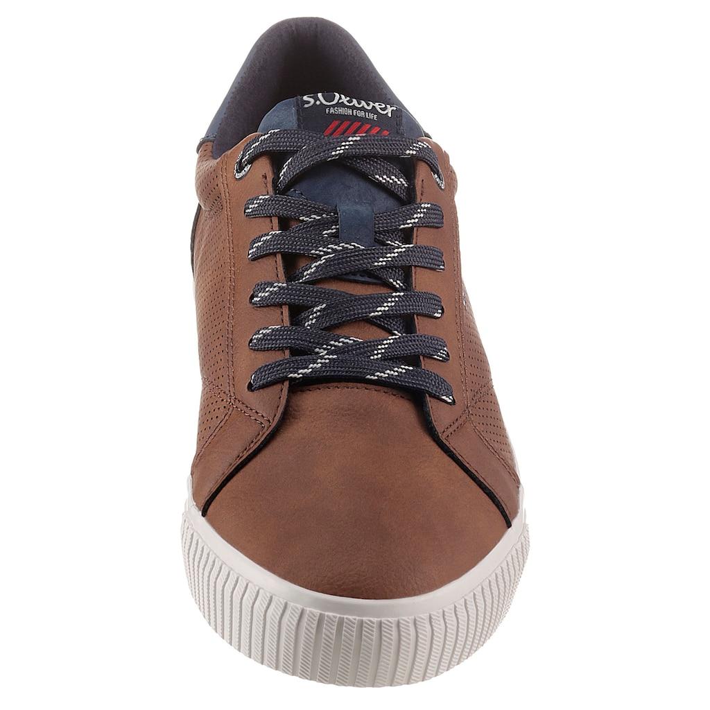 s.Oliver Sneaker, mit seitlicher Perforierung