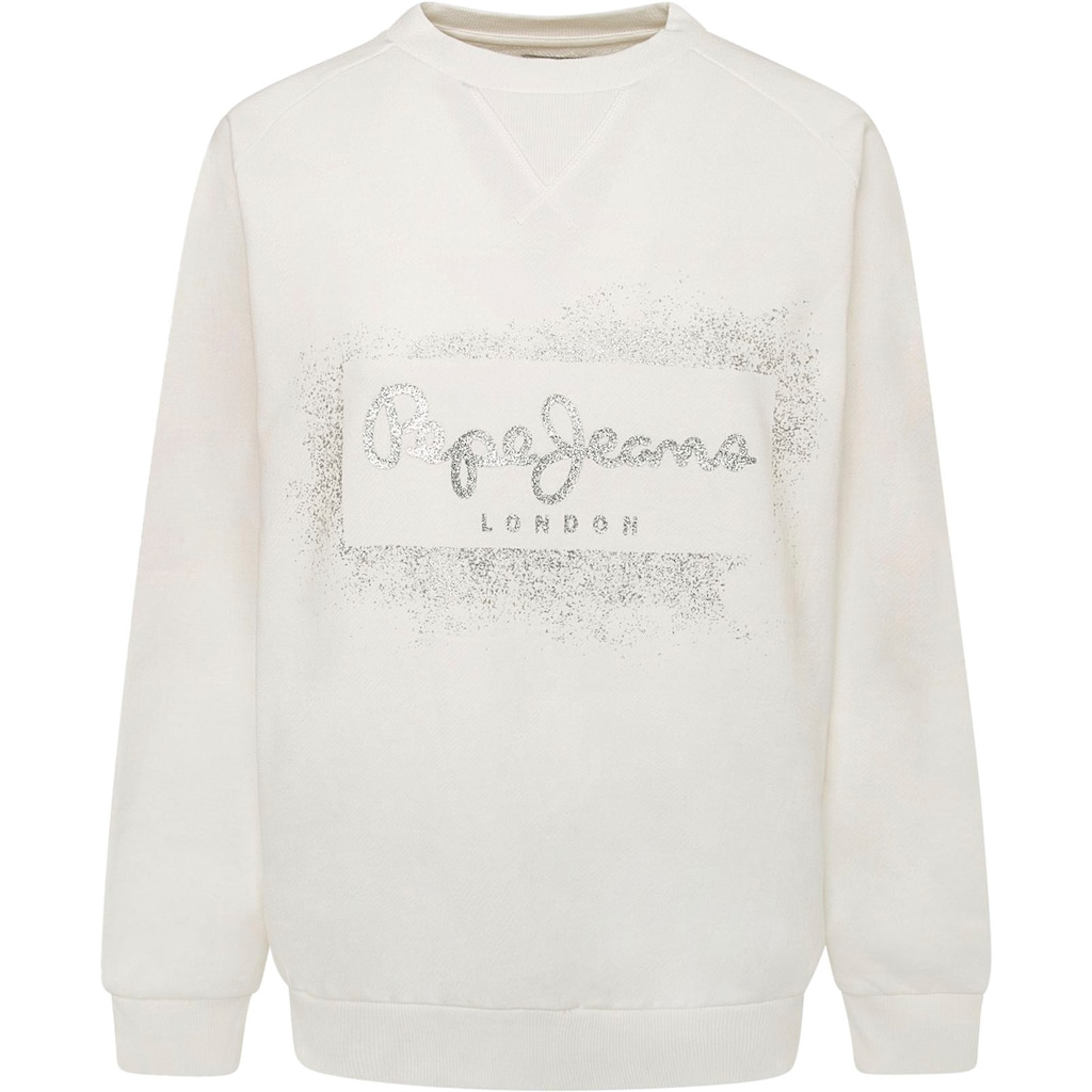 Pepe Jeans Sweater, mit glitzerndem Frontprint