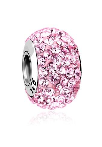 Nenalina Charm-Einhänger »Kugel Bead Violett Kristalle 925 Silber« kaufen