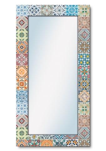 Artland Wandspiegel »Gemusterte Keramikfliesen«, gerahmter Ganzkörperspiegel mit... kaufen