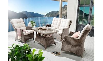 Destiny Loungeset »Casa«, (11 tlg.), 2 Sessel, Sofa, Tisch, Alu/Polyrattan, inkl.... kaufen