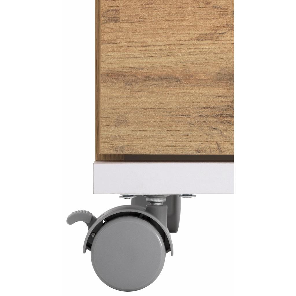 Schildmeyer Waschbeckenunterschrank »Rhodos«, Breite 60 cm, verstellbarer Einlegeboden, Metallgriffe, 2 Türen