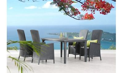 BEST Gartenmöbelset »Capri«, 5 - tlg., 4 Sessel, Tisch 165x94 cm, inkl. Sitzkissen kaufen