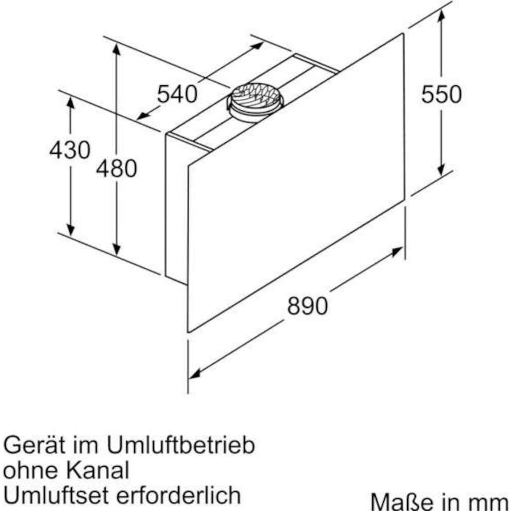 BOSCH Kopffreihaube »DWF97RV60«, Serie 8