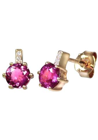 Creazione Bijoux Ohrstecker »750/ -  Rotgold mit Turmalin und Diamanten« kaufen
