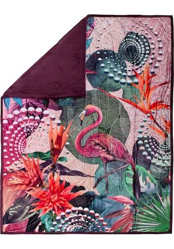 hip Plaid »Sirke«, mit Mandala und Flamingo kaufen