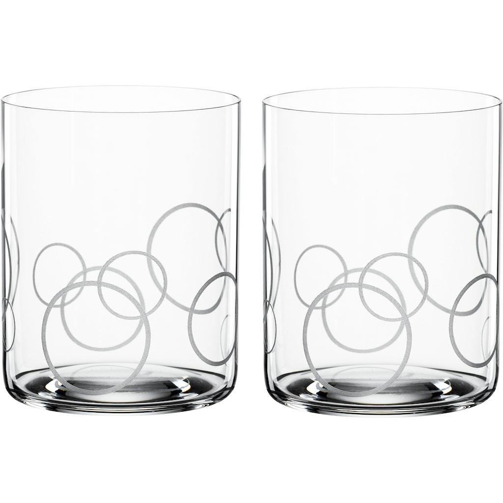 SPIEGELAU Whiskyglas »Circles«, (Set, 2 tlg.), Dekor gaviert, 430 ml, 2-teilig