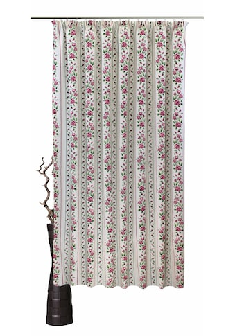 VHG Vorhang nach Maß »Chrissi«, Leinenoptik, Rose, Streifen, Breite 150 cm kaufen