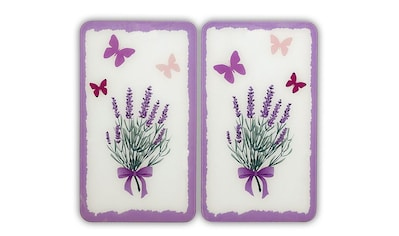 WENKO Herd-Abdeckplatte »Lavendel-Bouquet«, (Set, 2 tlg.), kratzfest kaufen