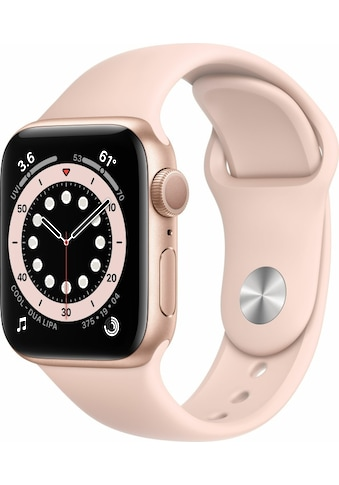 Apple Smartwatch »Series 6, GPS, Aluminium-Gehäuse, 40 mm mit Sportarmband«, (Watch OS) kaufen