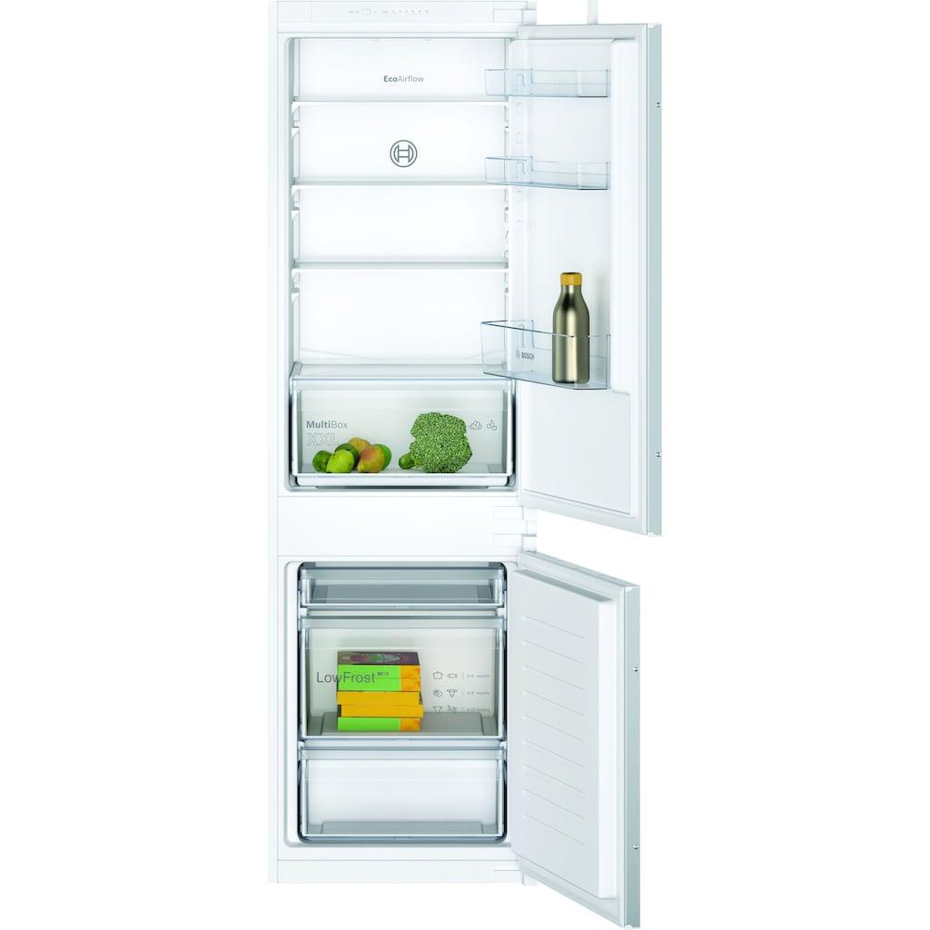 BOSCH Einbaukühlgefrierkombination »KIV86NSF0«, 2