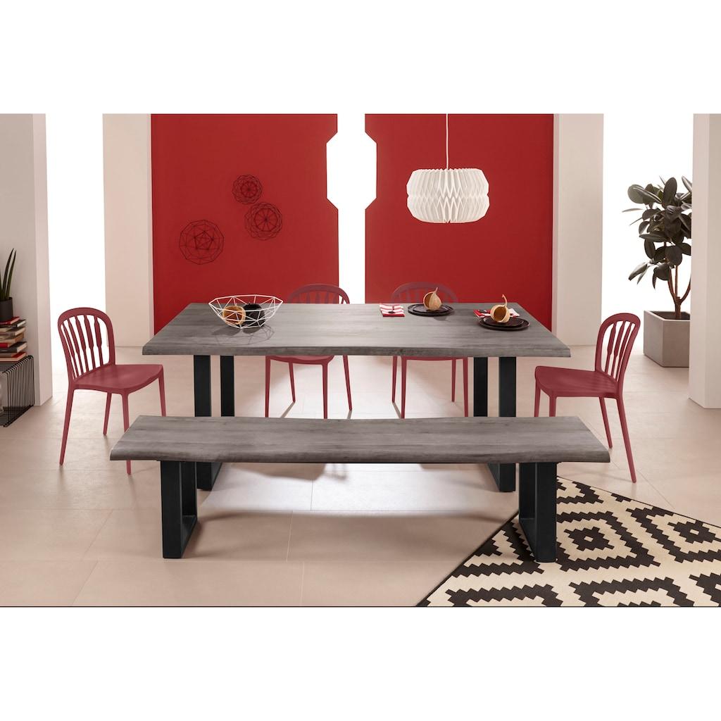INOSIGN Esszimmerstuhl »Linz«, 2er und 4er Stuhl Set, in vier trendigen Farbvarianten, aus Kunststoff, Sitzhöhe 45 cm