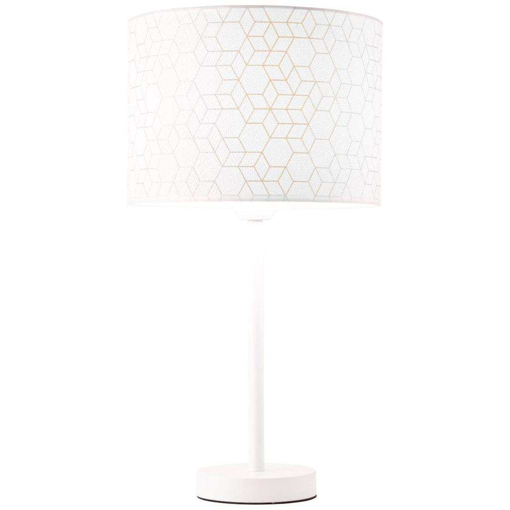 Brilliant Leuchten Tischleuchte, E27, Galance Tischleuchte groß weiß