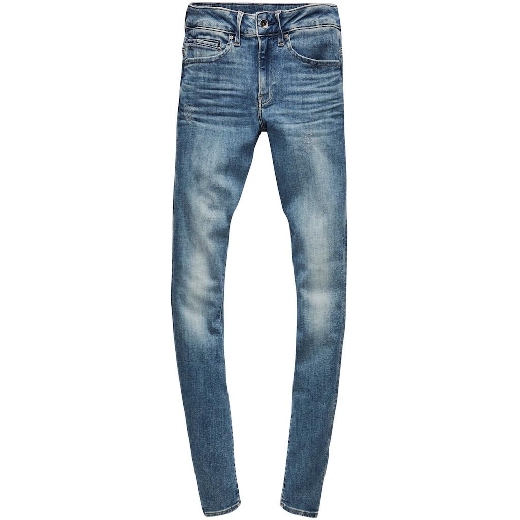 G-Star RAW Skinny-fit-Jeans »Midge Zip Mid Skinny«, mit Reißverschluss-Taschen hinten