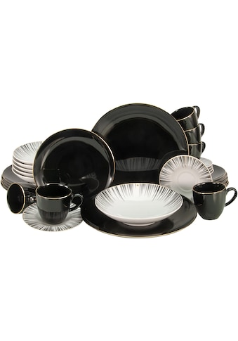 CreaTable Kombiservice »Enjoy Black Style«, (Set, 30 tlg.) kaufen