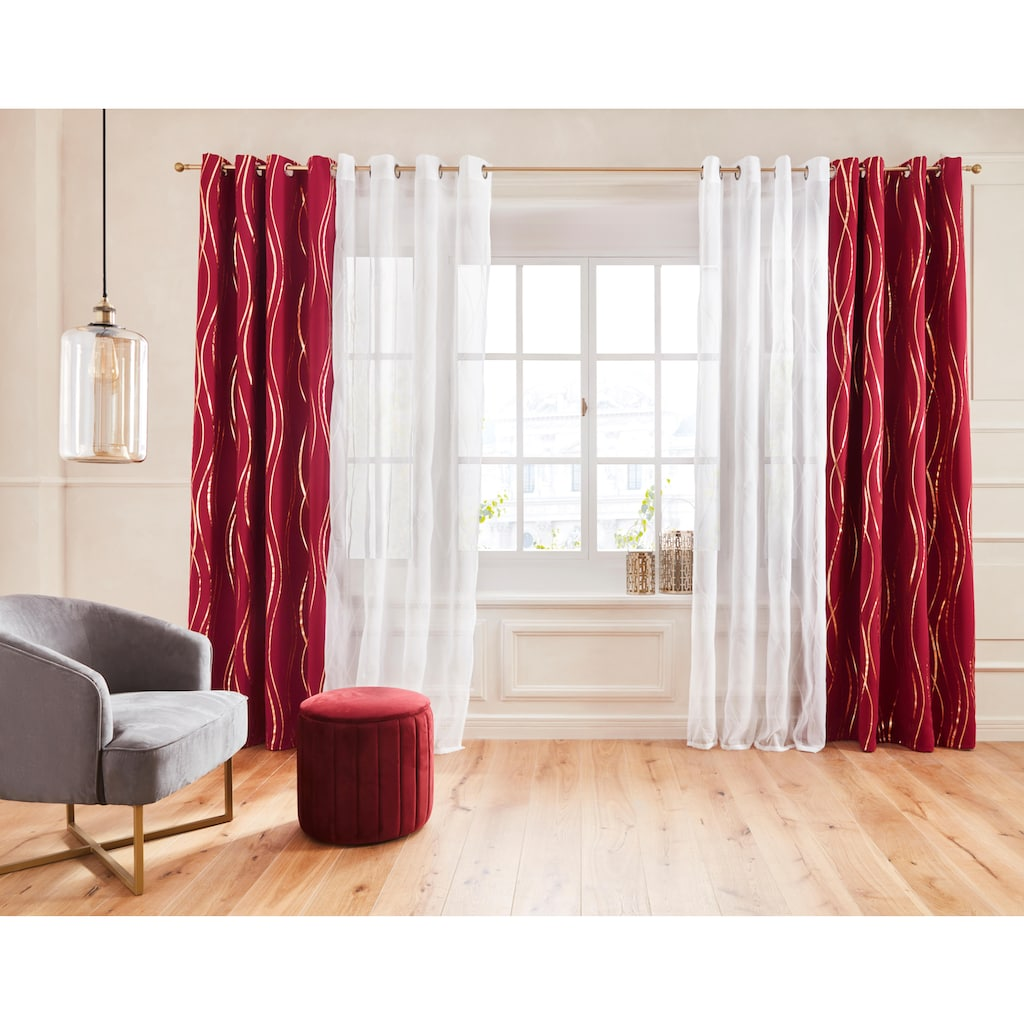 Guido Maria Kretschmer Home&Living Vorhang »Prag«, Verdunkelungsvorhang, mit Foliendruck, democratichome Edition