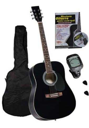 Clifton Westerngitarre »Dreadnought Gitarre mit Stimmgerät,Tasche, Heft und CD«, 4/4,... kaufen