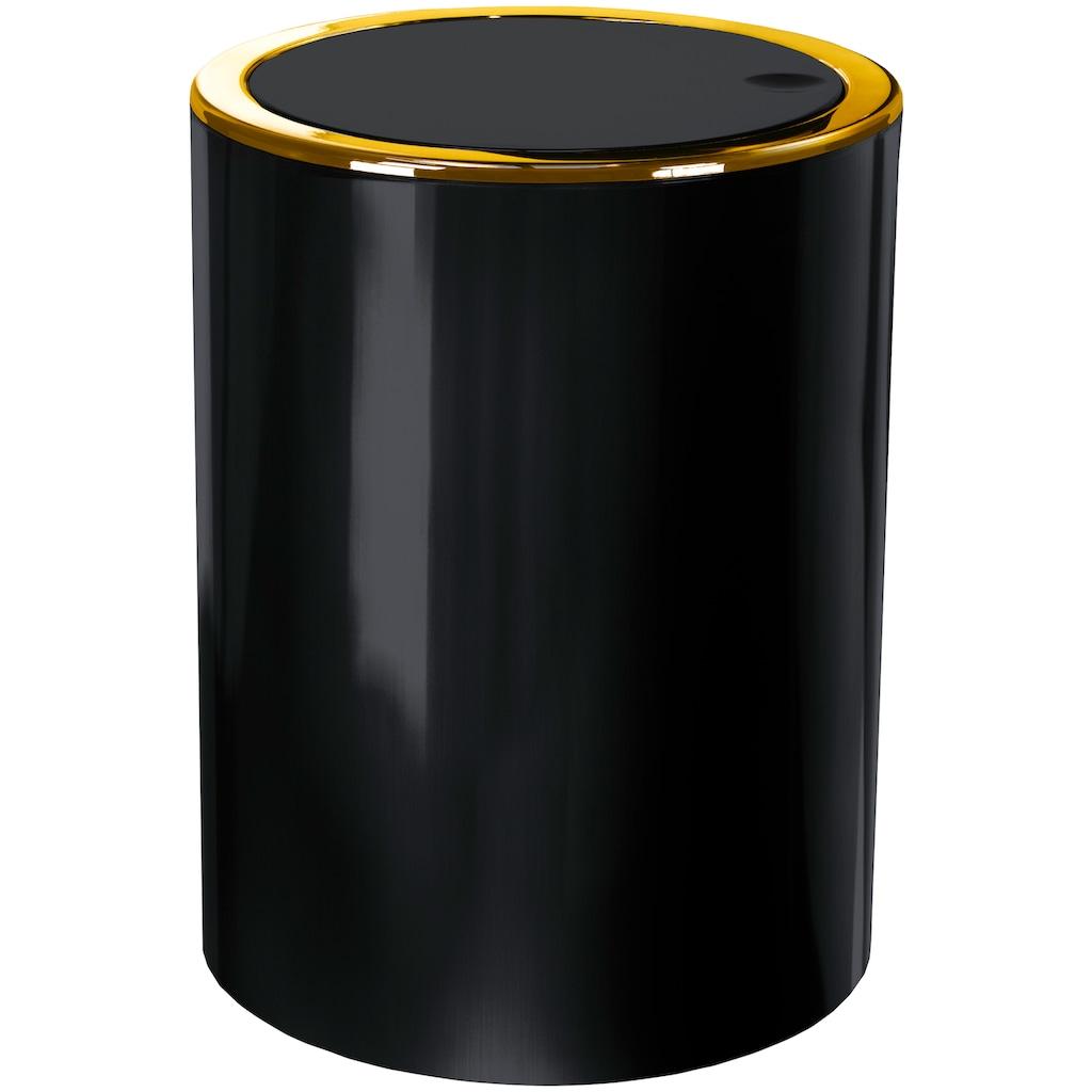 Kleine Wolke Kosmetikeimer »Golden Clap«, hochwertiger Schwingdeckeleimer