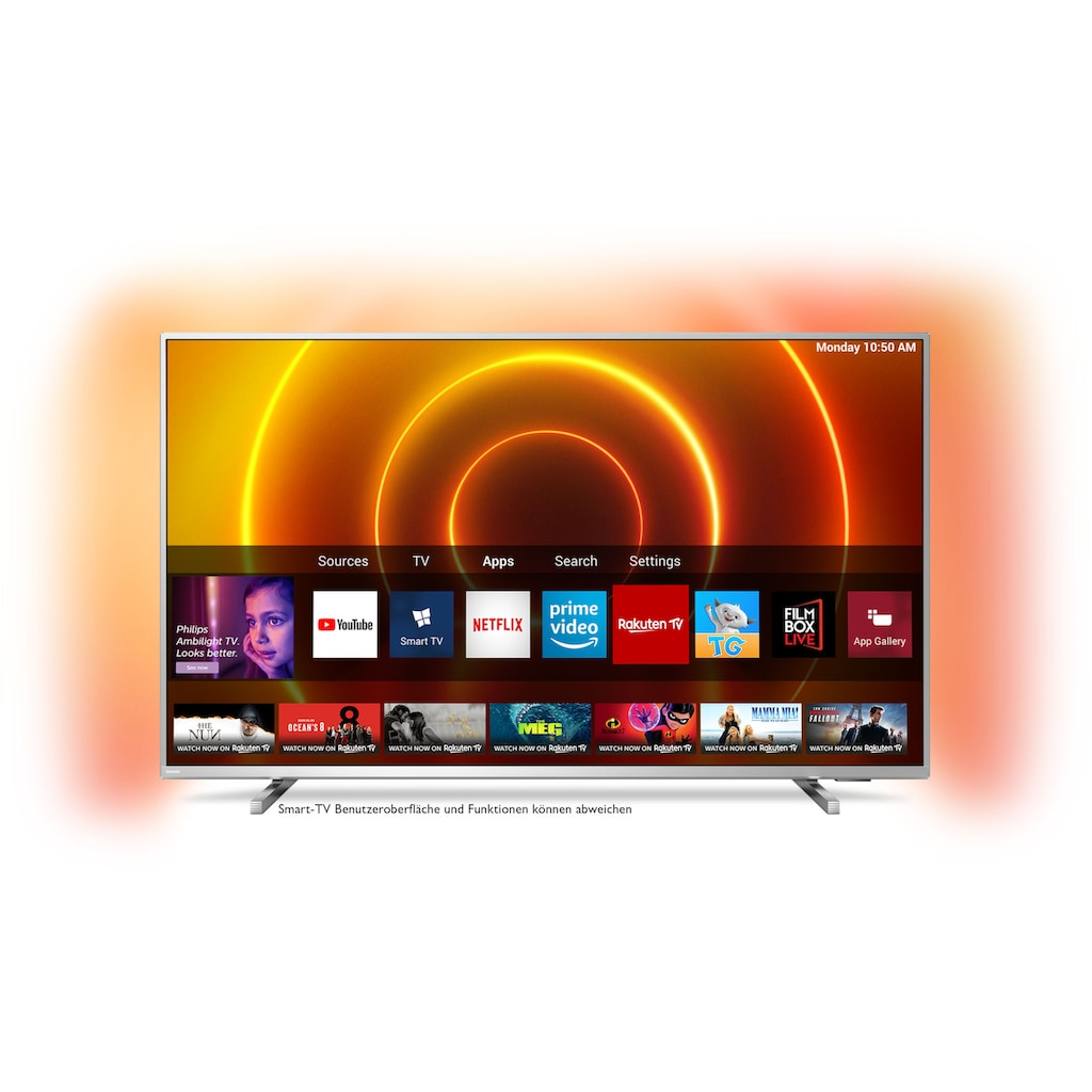 "Philips LED-Fernseher »43PUS8105/12«, 108 cm/43 "", 4K Ultra HD, Smart-TV, 3-seitiges Ambilght"