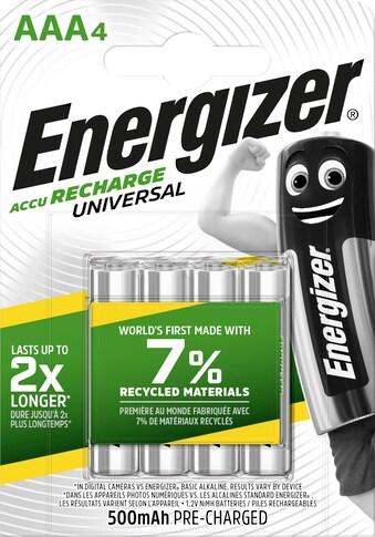 Energizer Akku »NiMH Universal, Micro (AAA), 500 mAh, vorgeladen 4 Stück«, Micro, AAA kaufen