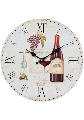 Ambiente Haus Wanduhr »Wanduhr -Wein 28cm« kaufen
