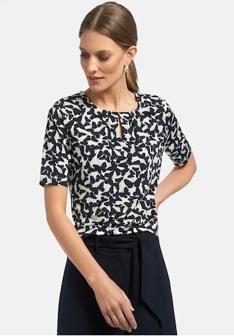 Uta Raasch T-Shirt »Rundhals-Shirt«, mit Schmetterling-Print kaufen