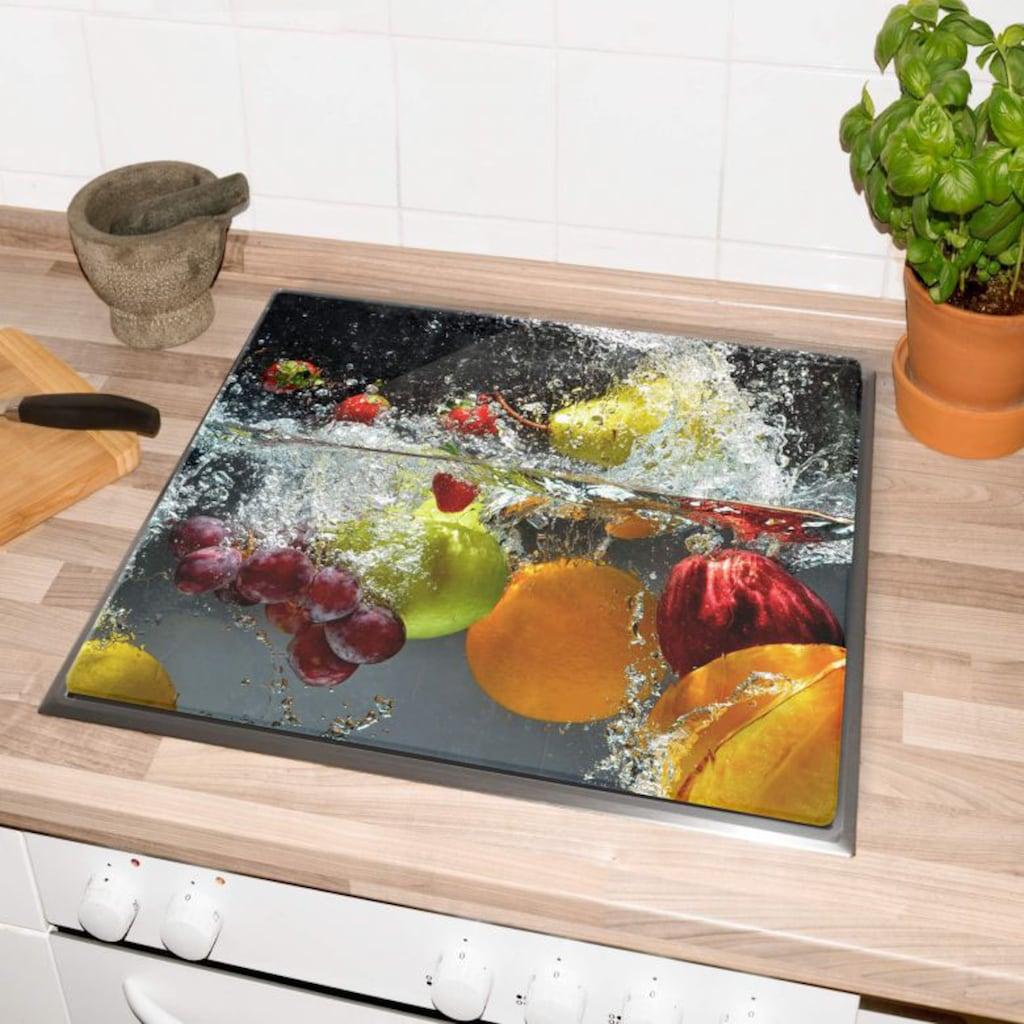 Wall-Art Herd-Abdeckplatte »Küche Herdabdeckplatte Obst«, (Set, 2 tlg.)