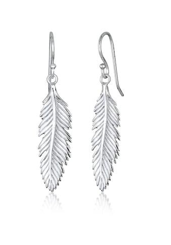 Elli Paar Ohrhänger »Feder Boho Hippie Festival Trend 925 Silber« kaufen