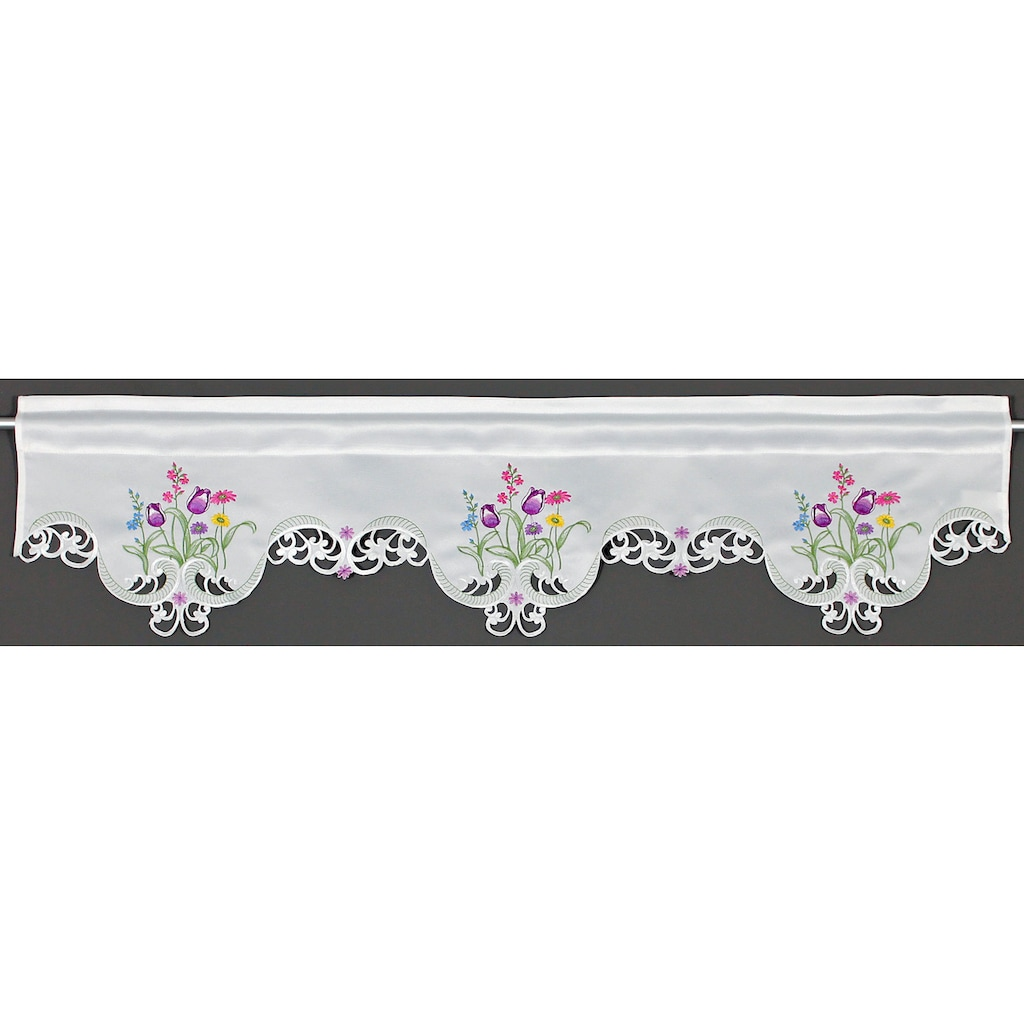 HOSSNER - ART OF HOME DECO Querbehang »Blumensee«, m. Cut-Outs