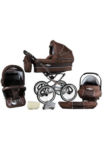 bergsteiger Kombi-Kinderwagen »Venedig, chocolate, 3in1«, 15 kg, Made in Europe kaufen