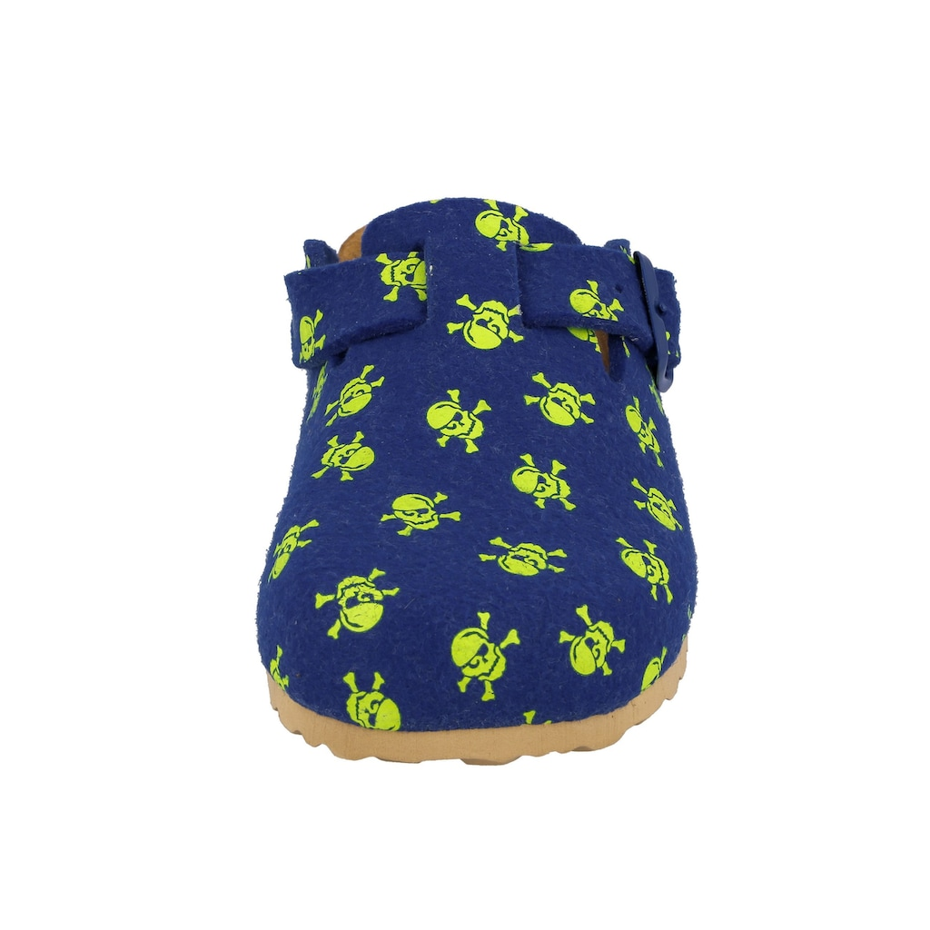 Lico Clog »Clog Bioline Clog Star - braun/lemon«