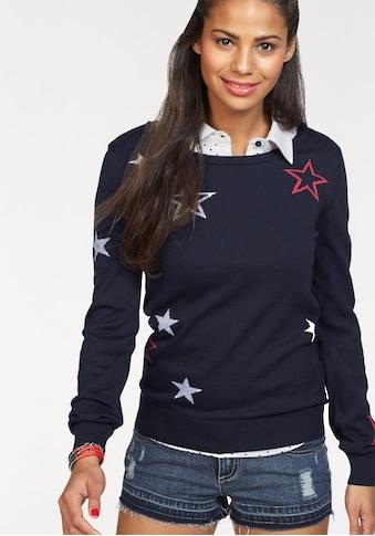 KangaROOS Rundhalspullover, mit Sternen-Muster kaufen