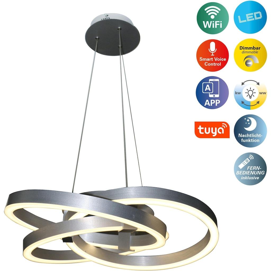 näve LED Pendelleuchte »Divora«, LED-Board, Neutralweiß-Kaltweiß, LED Hängelampe, LED Hängeleuchte, Smart Home