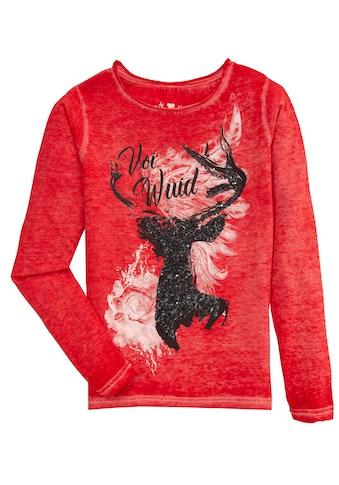 Hangowear Trachtenshirt »Thordis«, mit Paillettenmotiv kaufen