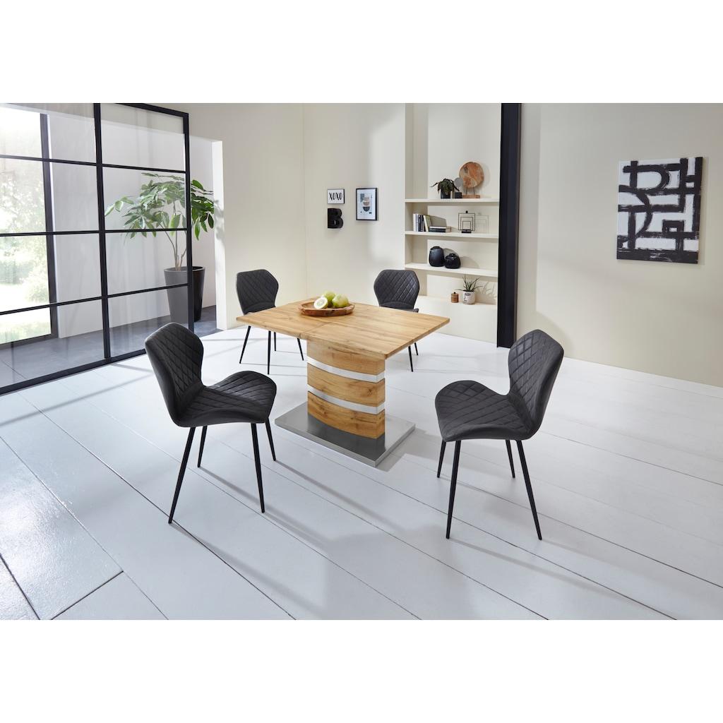 Duo Collection Esszimmerstuhl »Lena«, 4er-Set, elegante Rautensteppung