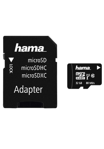 Hama microSDHC 32 GB Class 10 UHS-I 80MB/s + Adapter/Mobile kaufen